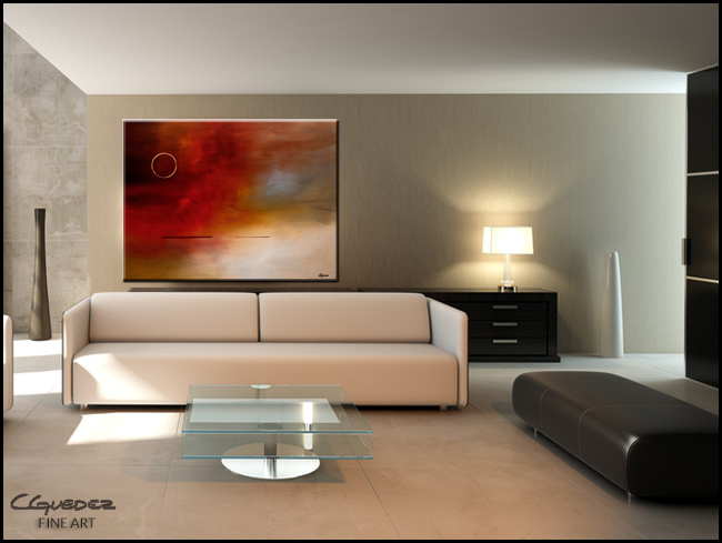 Eclipse-Modern Contemporary Abstract Art Painting Image