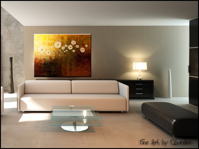 Happily Ever After-Modern Contemporary Abstract Art Painting Image