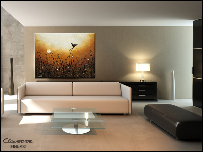 Humming Along-Modern Contemporary Abstract Art Painting Image
