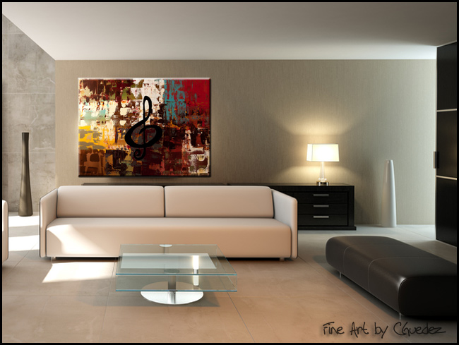 Rock On-Modern Contemporary Abstract Art Painting Image