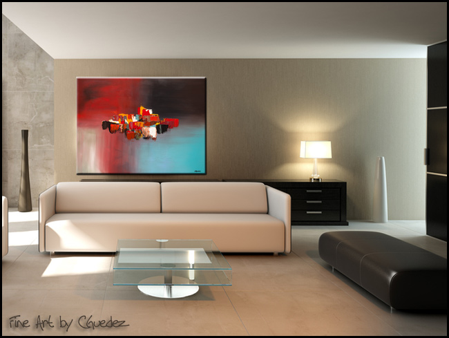 Rush Hour-Modern Contemporary Abstract Art Painting Image