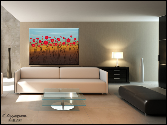 Summer Day-Modern Contemporary Abstract Art Painting Image