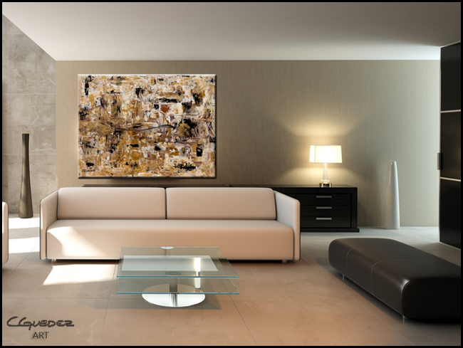 Touch of Gold-Modern Contemporary Abstract Art Painting Image