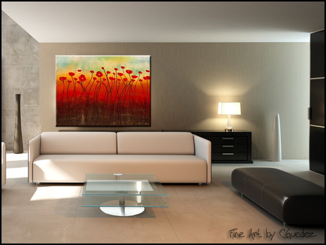 Touching the Sky-Modern Contemporary Abstract Art Painting Image