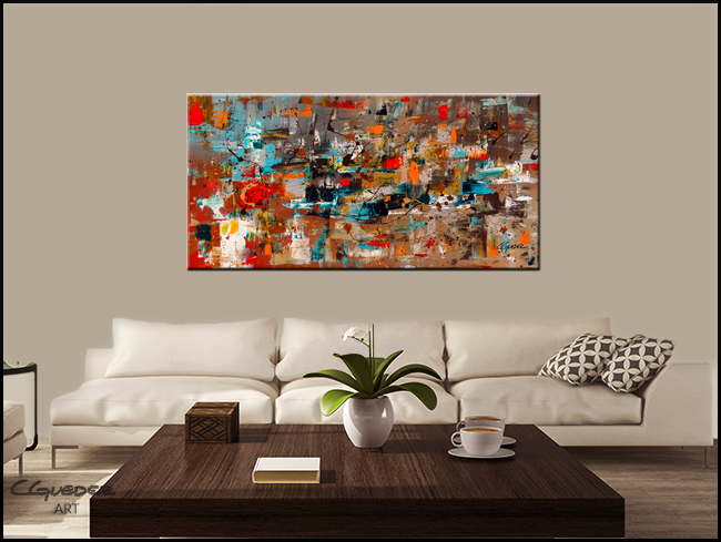 Abstract Celebration-Modern Contemporary Abstract Art Painting Image