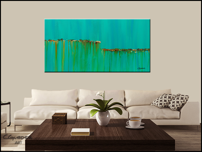 Acqua Di Mare-Modern Contemporary Abstract Art Painting Image
