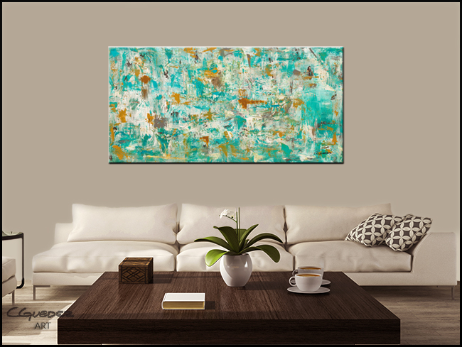 Reach for the Sky-Modern Contemporary Abstract Art Painting Image