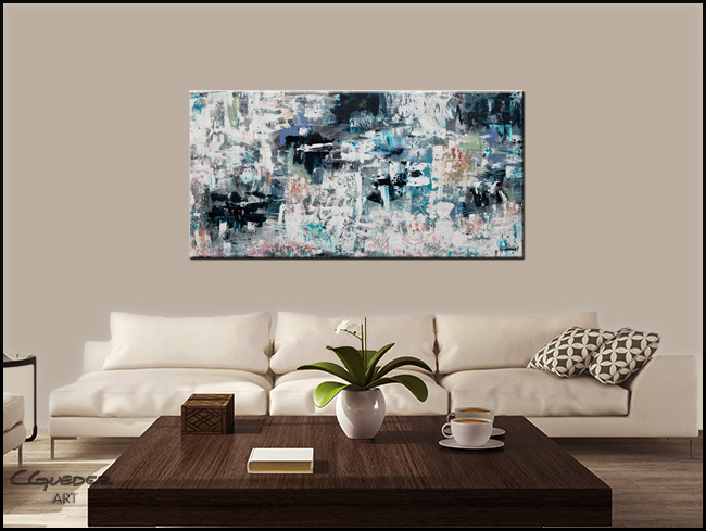 Tranquil Water-Modern Contemporary Abstract Art Painting Image