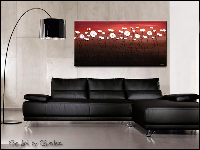 Atardecer-Modern Contemporary Abstract Art Painting Image