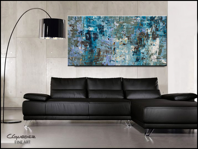 Blue Ocean-Modern Contemporary Abstract Art Painting Image