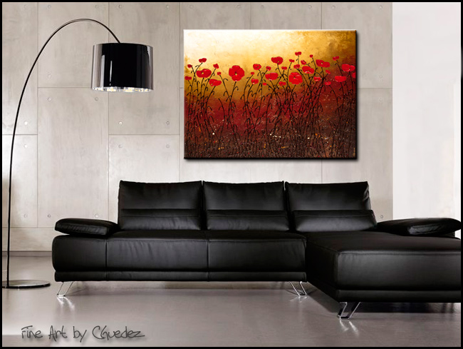 Campo Florido-Modern Contemporary Abstract Art Painting Image