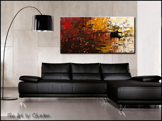 Con Fuoco-Modern Contemporary Abstract Art Painting Image