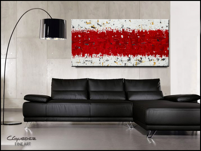 Hashtag Red-Modern Contemporary Abstract Art Painting Image