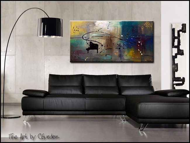 Jazz Night-Modern Contemporary Abstract Art Painting Image