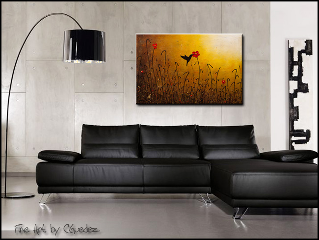 Lake Hope-Modern Contemporary Abstract Art Painting Image