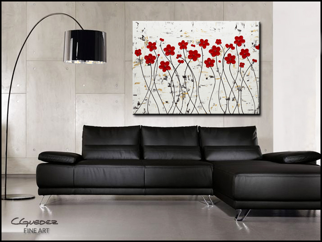 Mis Amores-Modern Contemporary Abstract Art Painting Image
