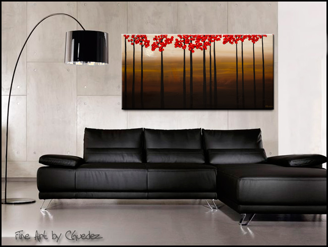 Moonlight-Modern Contemporary Abstract Art Painting Image