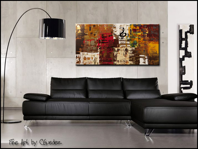 Music World Tour-Modern Contemporary Abstract Art Painting Image