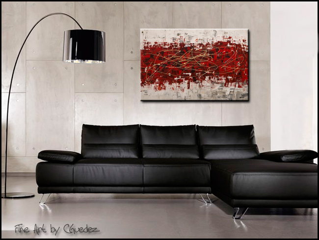 Off Limits-Modern Contemporary Abstract Art Painting Image
