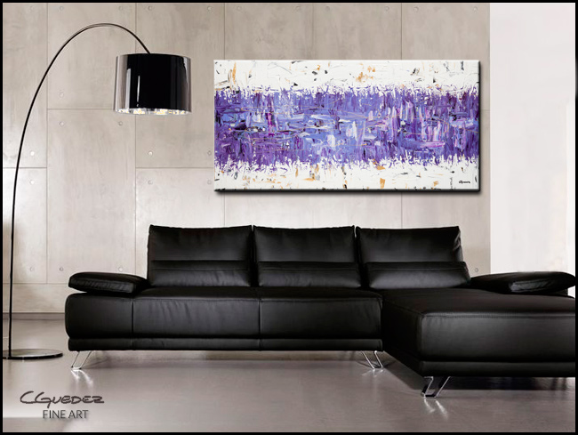 Purple Story-Modern Contemporary Abstract Art Painting Image