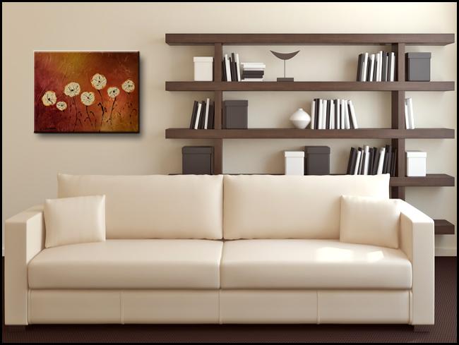 Flores en mi Jardin-Modern Contemporary Abstract Art Painting Image