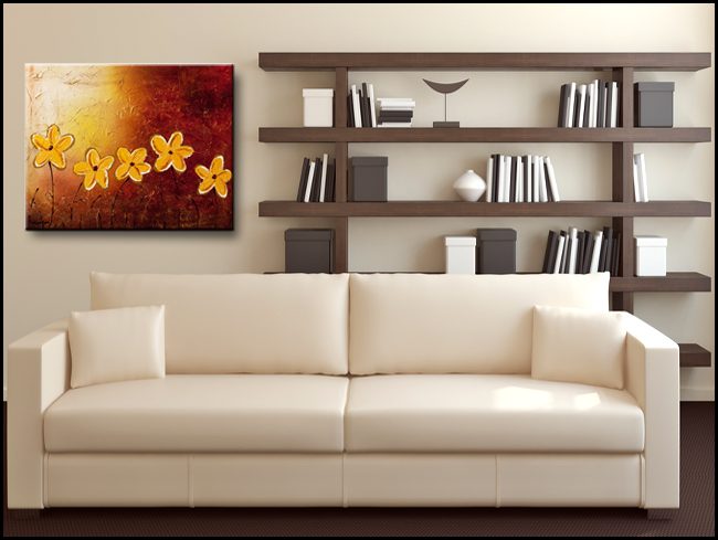 Little Sunshines-Modern Contemporary Abstract Art Painting Image