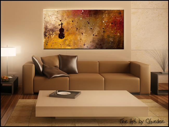 Allegro Con Brio-Modern Contemporary Abstract Art Painting Image