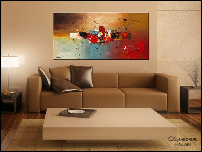 Con Te Partiro-Modern Contemporary Abstract Art Painting Image