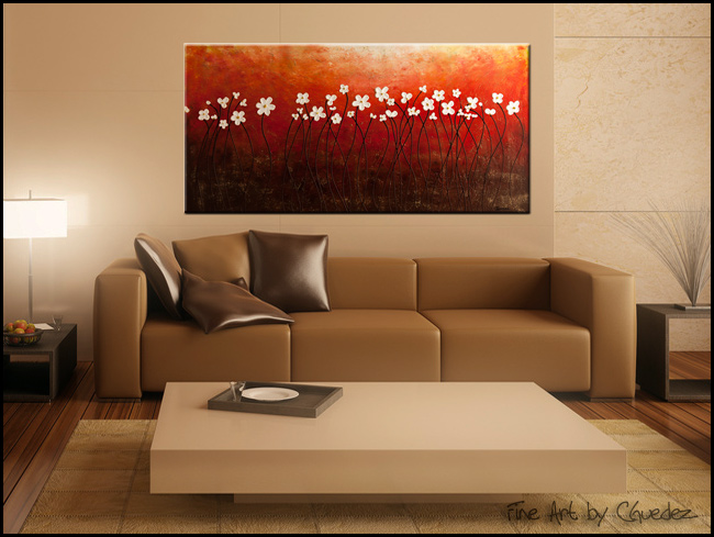 Floral Inspiration-Modern Contemporary Abstract Art Painting Image