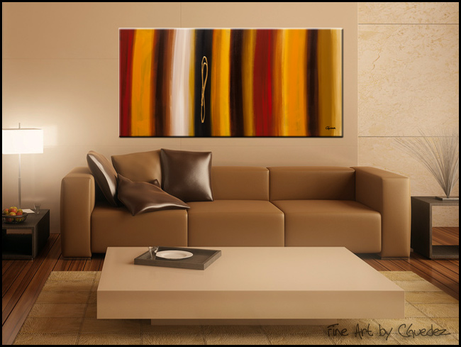 Golden Hour-Modern Contemporary Abstract Art Painting Image