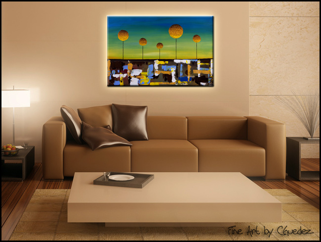 Good Morning World-Modern Contemporary Abstract Art Painting Image