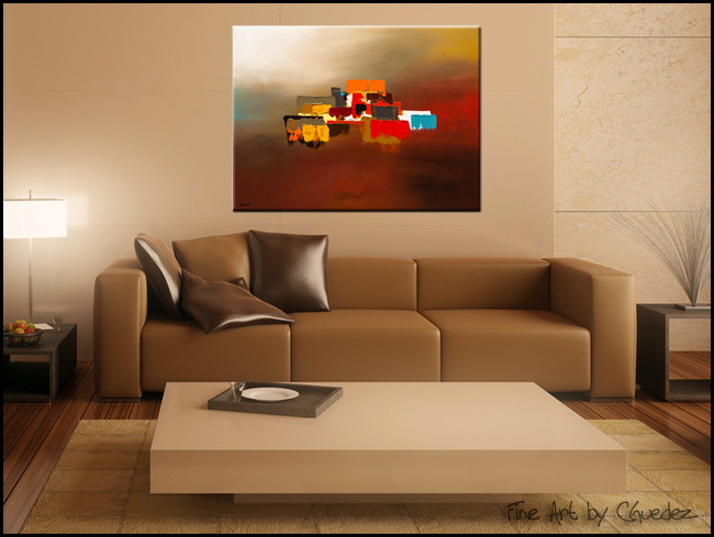 Horizon-Modern Contemporary Abstract Art Painting Image
