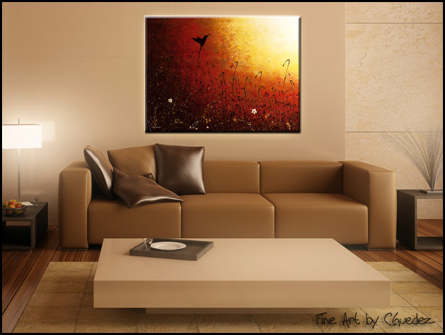 Hummingbird-Modern Contemporary Abstract Art Painting Image