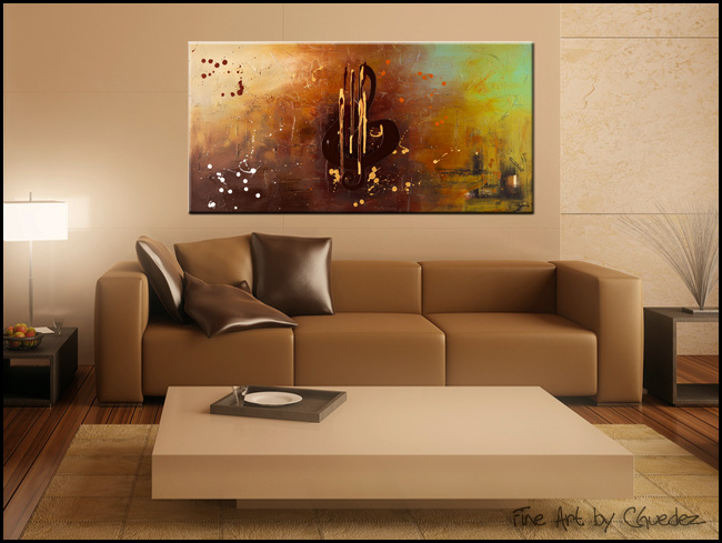 Music All Around Us-Modern Contemporary Abstract Art Painting Image