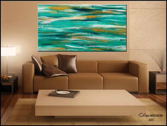 Ocean View-Modern Contemporary Abstract Art Painting Image