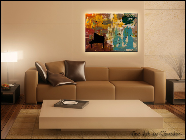 Piano Concerto-Modern Contemporary Abstract Art Painting Image