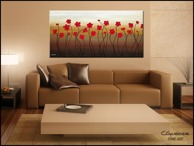 Playful Meadow-Modern Contemporary Abstract Art Painting Image