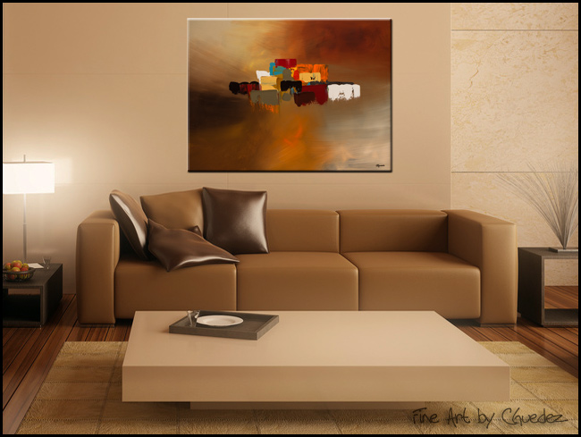 Reflexions-Modern Contemporary Abstract Art Painting Image