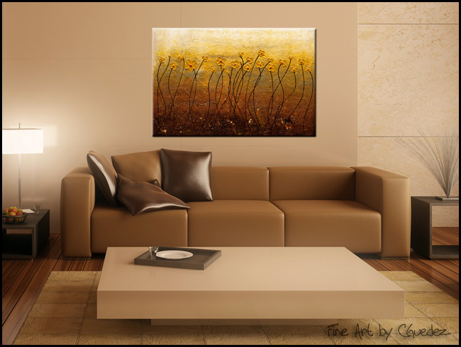 Terre de Fleurs-Modern Contemporary Abstract Art Painting Image