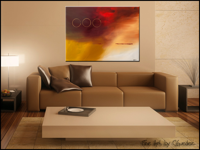 Contemporary Canvas Art For Sale Three Rings Buy Cheap Modern Abstract Paintings