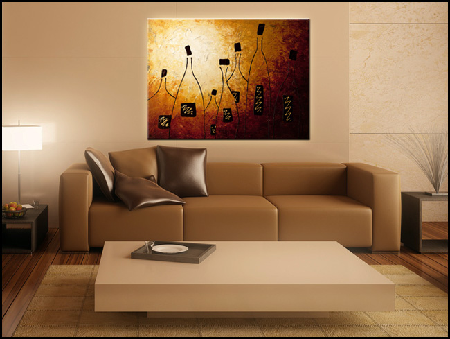 Vins de France-Modern Contemporary Abstract Art Painting Image
