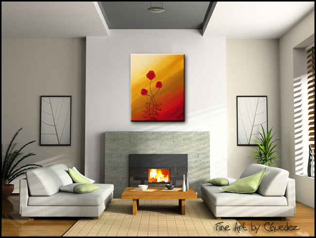Les Fleurs-Modern Contemporary Abstract Art Painting Image