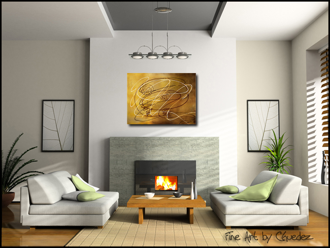 On a Whimsy-Modern Contemporary Abstract Art Painting Image