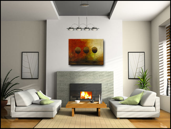 Once Upon a Time-Modern Contemporary Abstract Art Painting Image