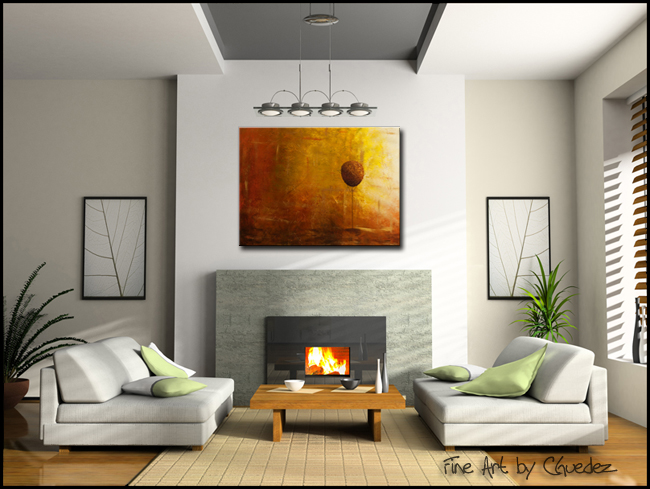 Otoño-Modern Contemporary Abstract Art Painting Image