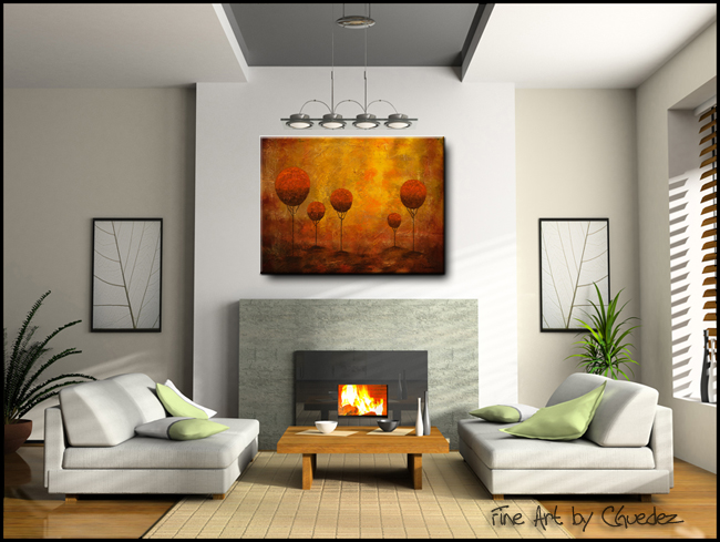 Woodland-Modern Contemporary Abstract Art Painting Image