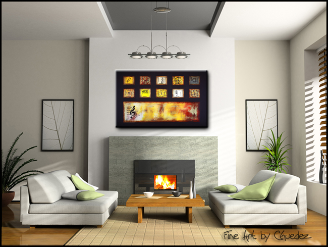 Write Me a Song-Modern Contemporary Abstract Art Painting Image