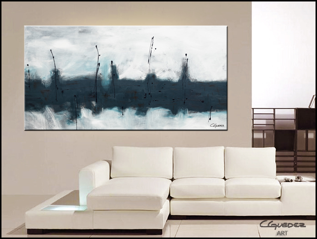 Oversized Abstract Wall Art Blue Harbour Huge Large
