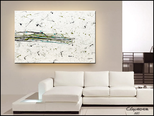 Turquoise Splash-Modern Contemporary Abstract Art Painting Image