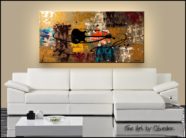 Be a Rock Star-Modern Contemporary Abstract Art Painting Image